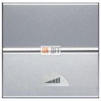Светорегулятор клавишный 40-500Вт ZENIT (серебристый) N2260 PL