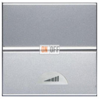 Светорегулятор клавишный 60-500Вт ZENIT (серебристый) N2260.1 PL