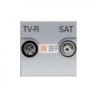 Розетка TV-R/SAT звезда ZENIT (серебристый) N2251.3 PL