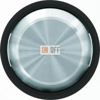 Выключатель одноклавишный, 10 А, ABB Skymoon черное стекло 8101 - 8601 CN