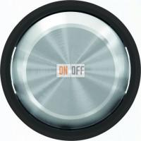 Переключатель одноклавишный  с подсветкой ( c 2-х мест) ABB Skymoon, 10 А, черное стекло 8102 - 6192 BL - 8601.3 CN