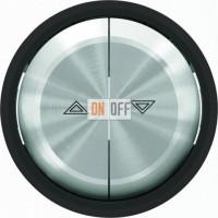 Выключатель управления жалюзи клавишный ABB Skymoon, черное стекло 8144.1 - 8644 CN
