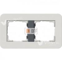 Рамка двойная  Gira E3  светло-серый/антрацит 0212421