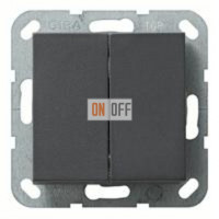 Выключатель двухклавишный, 10 А / 250 В~ 010500 - 029528