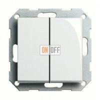 Выключатель двухклавишный, 10 А / 250 В~ 010500 - 029503