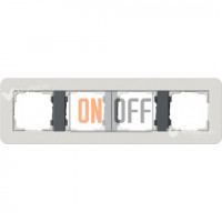 Рамка четверная  Gira E3  светло-серый/антрацит 0214421