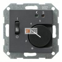 Термостат 230 В~ 10А с выносным датчиком для электрического подогрева пола механизм Eberle FRe 525 22 - 149428