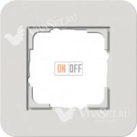 Рамка одинарная  Gira E3  светло-серый/антрацит 0211421