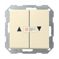 Выключатель управления жалюзи кнопочный, 10 А / 250 В~ 015800 - 029401