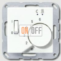 Термостат 230 В~ 10А с выносным датчиком для электрического подогрева пола механизм Eberle FRe 525 22 - aftr231plww