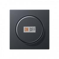 Светорегулятор поворотный нажимной для ламп накаливания 60-600Вт Eco Profi, антрацит 266GDE - EP1540BFAN