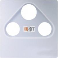 Розетка TV-FMTV-FM-SAT проходная Eco Profi , алюминий S4110 - EP561BFPLSATAL