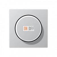Светорегулятор поворотно-нажимной 60-400 Вт для ламп накаливания Eco Profi, алюминий 244EX - EP1540BFAL