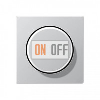 Светорегулятор поворотный нажимной для ламп накаливания 60-600Вт Eco Profi, алюминий 266GDE - EP1540BFAL