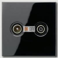 Розетка телевизионная проходная TV FM, диапазон частот от 4 до 2400 MГц S2900-10 - LS990TvSW