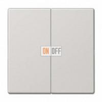 Выключатель двухклавишный, проходной (вкл/выкл с 2-х мест) 10 А / 250 В~ 509u - LS995LG