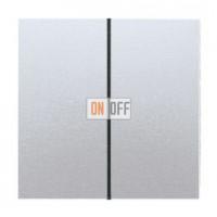 Выключатель двухклавишный, проходной (вкл/выкл с 2-х мест) 10 А / 250 В~ 509u - al2995