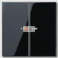 Выключатель двухклавишный с подсветкой, 10 А / 250 В~ 505U5 - LS995KO5SW