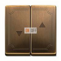 Выключатель управления жалюзи кнопочный, 10 А / 250 В~ MTN3755-0000 - MTN411543