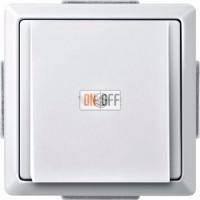 Вывод кабеля Merten белый глянцевый MTN299319