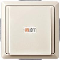 Вывод кабеля Merten кремовый глянцевый MTN299344