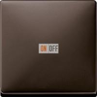Светорегулятор клавишный универсальный 25-420 Вт. для ламп накаливания и низковольтн.галог.ламп, цвет коричневый MTN577099 - MTN5210-4015