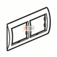 Рамка двойная, для гориз./вертик. монтажа Schneider Unica, белый-бронза MGU2.004.18 - MGU4.000.13 - MGU4.000.13
