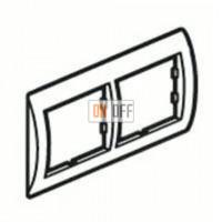 Рамка двойная, для гориз./вертик. монтажа Schneider Unica, белый-индиго MGU2.004.18 - MGU4.000.42 - MGU4.000.42