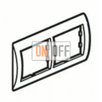 Рамка двойная, для гориз./вертик. монтажа Schneider Unica, белый-серебро MGU2.004.18 - MGU4.000.60 - MGU4.000.60