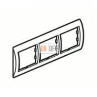 Рамка тройная, для гориз./вертик. монтажа Schneider Unica, белый-голубой лед MGU2.006.18 - MGU4.000.54 - MGU4.000.54 - MGU4.000.54