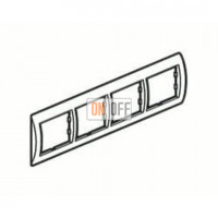 Рамка четверная, для гориз./вертик. монтажа Schneider Unica, белый-индиго MGU2.008.18 - MGU4.000.42 - MGU4.000.42 - MGU4.000.42 - MGU4.000.42