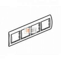 Рамка четверная, для гориз./вертик. монтажа Schneider Unica, белый-кремовый MGU2.008.18 - MGU4.000.59 - MGU4.000.59 - MGU4.000.59 - MGU4.000.59