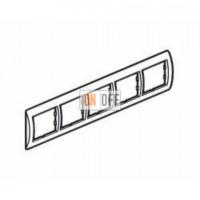 Рамка пятерная, для гориз./вертик. монтажа Schneider Unica, белый-терракота MGU2.010.18 - MGU4.000.51 - MGU4.000.51 - MGU4.000.51 - MGU4.000.51 - MGU4.000.51