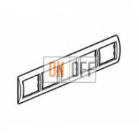 Рамка пятерная, для гориз./вертик. монтажа Schneider Unica, белый-голубой лед MGU2.010.18 - MGU4.000.54 - MGU4.000.54 - MGU4.000.54 - MGU4.000.54 - MGU4.000.54