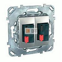 Розетка для стерео-громкоговорителя Schneider Unica алюминий MGU5.8787.30ZD