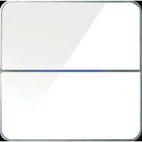 Basalte 203-04 Enzo лицевая панель 2 - клавишная - white glass