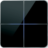 Basalte 204-03 Enzo лицевая панель 4 - клавишная - black glass