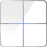 Basalte 204-04 Enzo лицевая панель 4 - клавишная - white glass