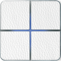 Basalte 204-14 Enzo лицевая панель 4 - клавишная - white leather